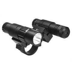 30mm Scope Mount w/Flashlight & Green Laser