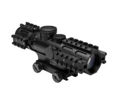 3-9x42 Compact Scope/3 Rail Sighting System/Blue Ill. Mil-Dot/Weaver Mount