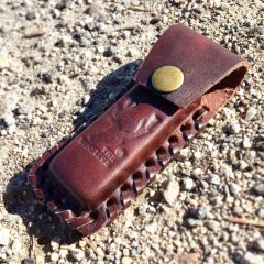 "TheBoneEdge Brown 4"" Tactical knife Leather Sheath for a Knife Belt Loop"