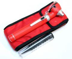 Red Fiber Optic Otoscope Mini Pocket Medical Ent Diagnostic Set