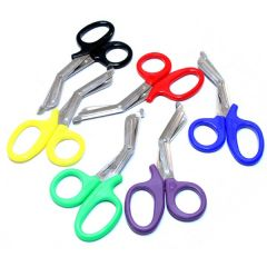 "Mixed Colors 7.5"" First Aid Rescue EMT EMS Trauma Shears Utility Scissors"