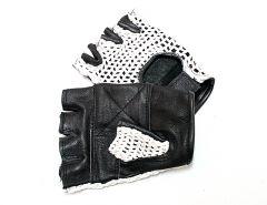 White Meshback Leather Gloves