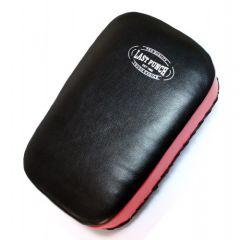 "14.5"" Black & Red Boxing Mui Thai Kick Pad  Straps Closer"