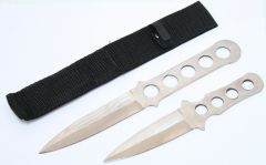 2pc Throwing Knife Set with Sheath