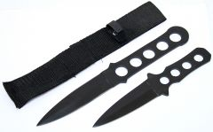 2PC Throwing Knife Set W/Sheath
