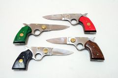 "8"" Wholesale Folding Gun Knife with Pouch Sharp"