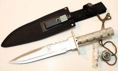 """14"""" Carbon Steel Survival Knife Heavy Duty Fire Starter"""